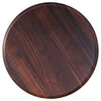 Rosseto MEL029 Forme' 13 5/16 inch Round Walnut Melamine Tray - 3/Pack