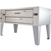 Bakers Pride Y-800BL Super Deck Y Series Natural Gas Brick Lined Single Deck Pizza Oven 66 inch - 120,000 BTU