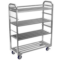 Winholt ALMCS-60-224-79H/2S Four Shelf Universal Cart with 2 Adjustable Shelves - 62 7/8 inch x 24 inch x 79 1/8 inch