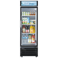 Turbo Air TGM-14RV 24 inch Black Single Glass Door Merchandising Refrigerator