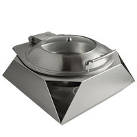 Rosseto SK049 Multi-Chef Diamond 6.3 Qt. Round Stainless Steel Chafer with Lid