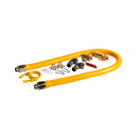 Regency 48 inch Mobile Gas Connector Hose Kit with 2 Elbows, Full Port Valve, Restraining Device, and Quick Disconnect - 3/4 inch