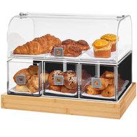 Rosseto BD141 Acrylic Bakery Case with Bamboo Base