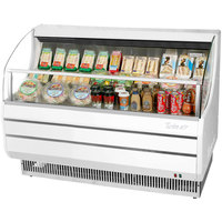 Turbo Air TOM-60S Slim Line 63 inch White Horizontal Air Curtain Display Case