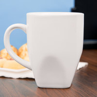Tuxton BWM-100E DuraTux 9 oz. White China Bistro Mug - 24/Case