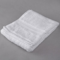 Hotel Hand Towel - Oxford Reserve 16 inch x 30 inch 100% 2-Ply Combed Cotton with Dobby Border 5 lb. - 96/Case