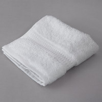 Oxford Regale 13 inch x 13 inch 100% 2-Ply Combed Cotton Hotel Wash Cloth with Dobby Border 1.75 lb. - 12/Pack