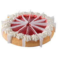 Pellman 48 oz. 9 inch Pre-Cut Strawberries 'N Cream Cheesecake