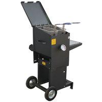 R & V Works FF2-S-ST 6 Gallon Liquid Propane Outdoor Cajun Deep Fryer with Stand - 90,000 BTU