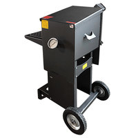 R & V Works FF2-S-ST 6 Gallon Liquid Propane Outdoor Cajun Deep Fryer with Stand - 90,000 BTU