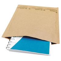 Universal UNV62425 6 inch x 10 inch Jiffy Natural Kraft Self-Sealing Cushioned Mailer #0 - 200/Case