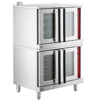 Cooking Performance Group FEC200BK Double Deck Full Size Convection Oven - 208V, 1 Phase, 22 kW