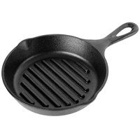 Lodge L3GP 6 1/2 inch Pre-Seasoned Cast Iron Grill Pan with Branding Ridges