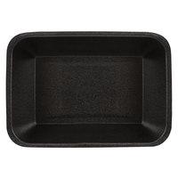 CKF 87846 (#42P) Black Foam Meat Tray 8 1/4 inch x 5 3/8 inch x 1 3/4 inch - 100/Pack