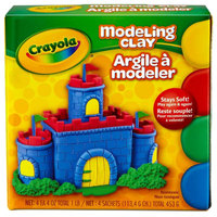 Crayola 570300 1 lb. 4 Assorted Color Reusable Modeling Clay