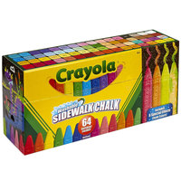 Crayola 512064 4 inch 64 Assorted Color Ultimate Sidewalk Chalk