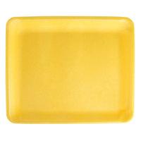 CKF 87921 (#9L) Yellow Foam Meat Tray 11 3/4 inch x 9 3/4 inch x 1/2 inch - 100/Pack