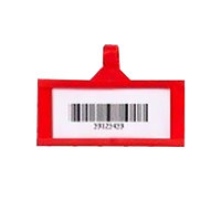 Metro QB03LHRD qwikSIGHT 3 inch x 1 1/4 inch Red Label Holder - 50/Pack