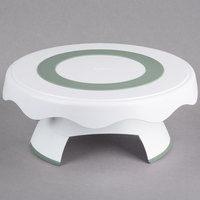 Wilton 307-0838 12 3/4 inch High and Low Revolving Plastic Cake Stand / Turntable