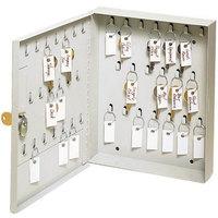 MMF Industries 201KCH40PL Steelmaster Platinum 40-Key Ring Cabinet with Disc-Tumbler Key Lock