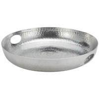 American Metalcraft ATHS16 16 inch Round Silver Hammered Aluminum Tray