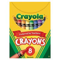 Crayola 520008 Classic Assorted 8 Color Crayon Tuck Box