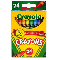Crayola 523024 Classic Assorted 24 Color Crayon Box