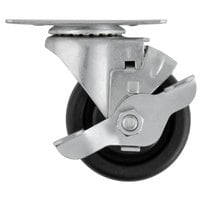 3 inch Swivel Plate Caster with Brake for Beverage-Air DW49, DW79, DW94, WTRCS72, WTRCS84, and WTRCS112 Series