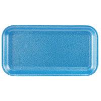 CKF 88017 (#17S) Blue Foam Meat Tray 8 1/4 inch x 4 1/2 inch x 1/2 inch - 1000/Case