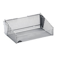 Metro QB1218B qwikSIGHT 12 inch x 18 inch Wire Basket with Mounting Brackets
