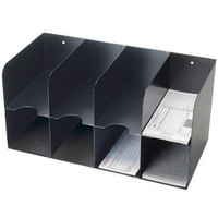 MMF Industries 266166404 Black Steel 8-Pocket Double-Tier Check Separator