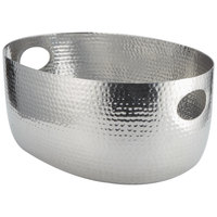 American Metalcraft ATHS14 Silver Hammered Aluminum Beverage Tub - 19 inch x 14 inch x 8 1/4 inch
