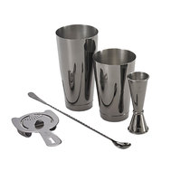 Barfly M37101BK Basic 5-Piece Gun Metal Black Cocktail Kit