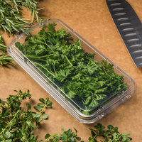 CKF 86703 Clear 2 oz. Hook Top Clamshell Herb Pack   - 660/Case