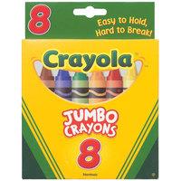 Crayola 520389 Assorted 8 Color Jumbo Size Crayon Box