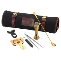 Mercer Culinary M37100GD Barfly Essentials Gold Plated 7-Piece Bar Cocktail Kit