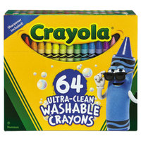 Crayola 523287 Ultra-Clean Assorted 64 Color Washable Crayon Box with Built-In Sharpener