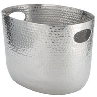 American Metalcraft ATHS9 Silver Hammered Aluminum Beverage Tub - 12 1/4 inch x 9 inch x 8 3/4 inch