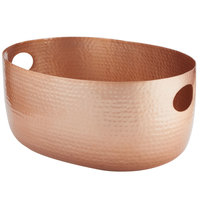 American Metalcraft ATHC14 Copper Hammered Aluminum Beverage Tub - 19 inch x 14 inch x 8 1/4 inch