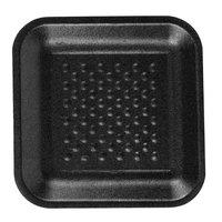 CKF 87801 (#1S) Black Foam Meat Tray 5 1/4 inch x 5 1/4 inch x 5/8 inch - 250/Pack