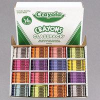 Crayola 528016 Classpack Assorted 16 Color Regular Size Crayon Pack   - 800/Box