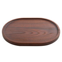 American Metalcraft AWB12 12 inch x 9 inch Rimmed Ash Wood Serving Board