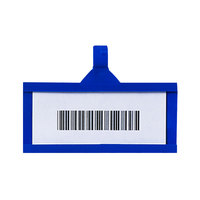 Metro QB03LHBL qwikSIGHT 3 inch x 1 1/4 inch Blue Label Holder - 50/Pack
