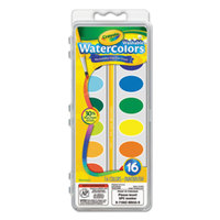 Crayola 530555 Assorted 16 Color Washable Watercolor Paint Set