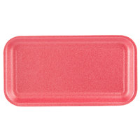 CKF 88065 (#17S) Rose Foam Meat Tray 8 1/4 inch x 4 1/2 inch x 1/2 inch - 1000/Case