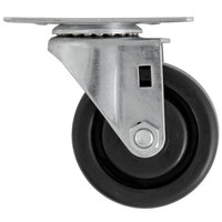 3 inch Swivel Plate Caster for Beverage-Air DW49, DW79, DW94, WTRCS72, WTRCS84, and WTRCS112 Series
