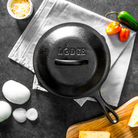 Lodge L5SK3 8 inch Pre-Seasoned Cast Iron Skillet with Lid