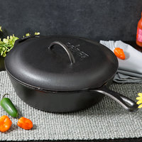 Lodge L10DSK3 12 inch Pre-Seasoned Cast Iron Deep Skillet with Lid