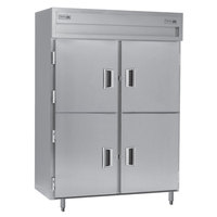Delfield SSDRP2-SH Stainless Steel 49.92 Cu. Ft. Solid Half Door Dual Temperature Reach In Pass-Through Refrigerator / Freezer - Specification Line