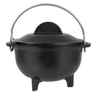 Lodge HCK Pre-Seasoned Heat-Treated Cast Iron 16 oz. Country Kettle with Lid